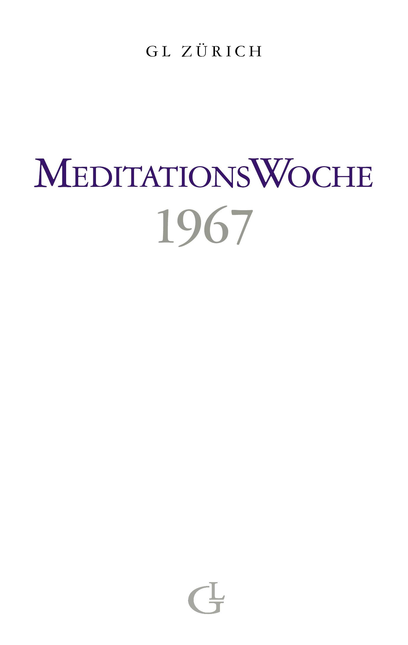 Cover des Buches Meditationswoche 1967 von Medium Beatrice Brunner