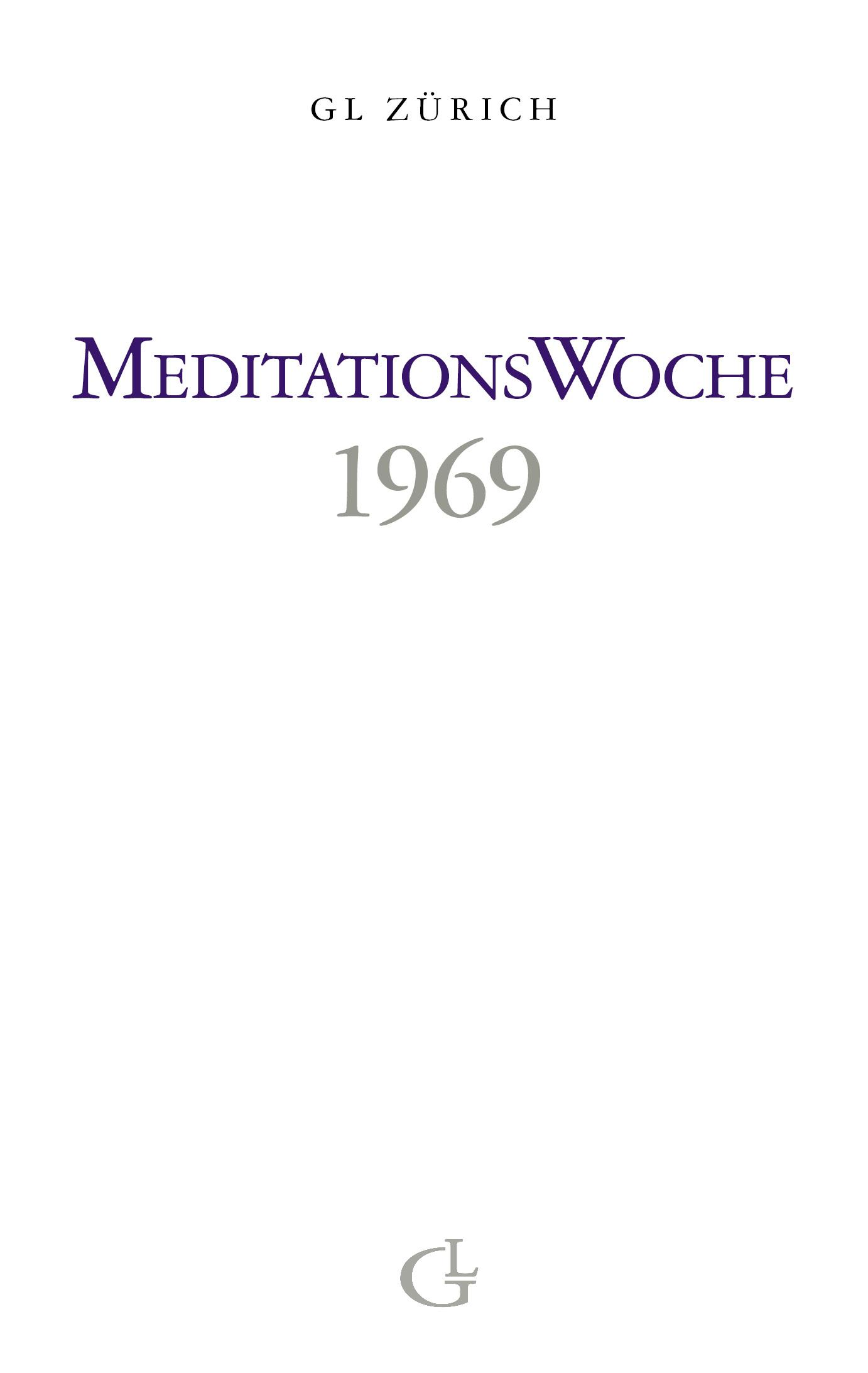 Cover des Buches Meditationswoche 1969 von Medium Beatrice Brunner
