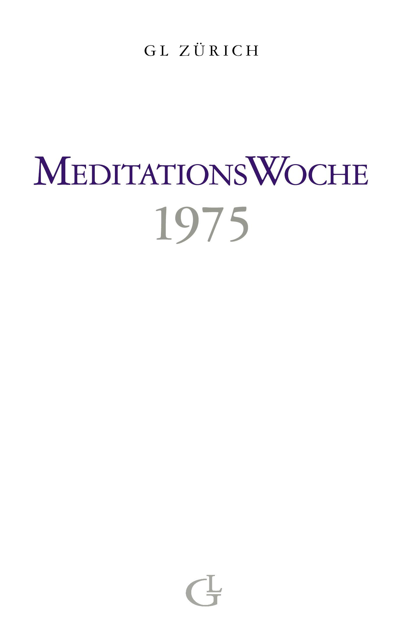 Cover des Buches Meditationswoche 1975 von Medium Beatrice Brunner