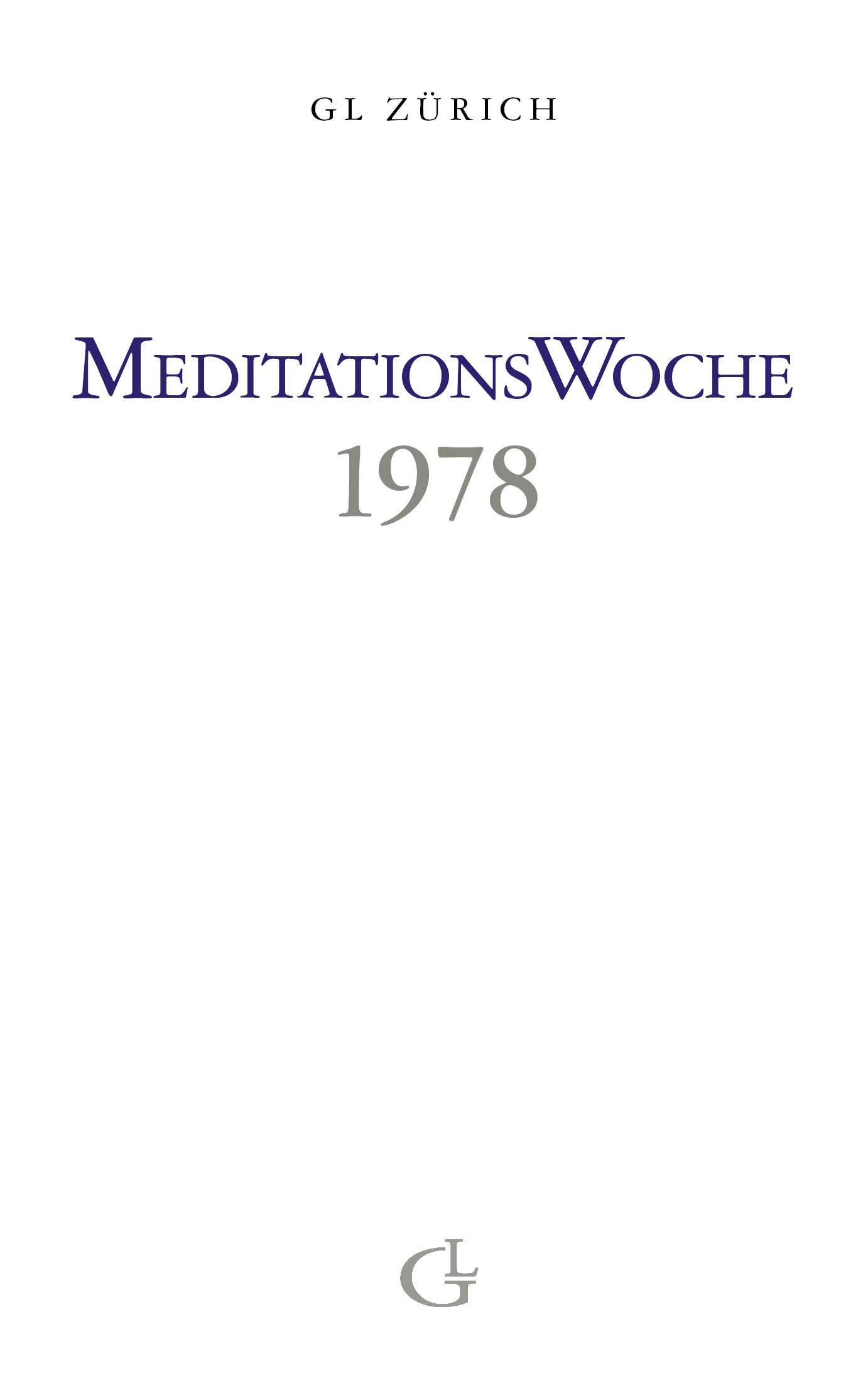 Cover des Buches Meditationswoche 1978 von Medium Beatrice Brunner