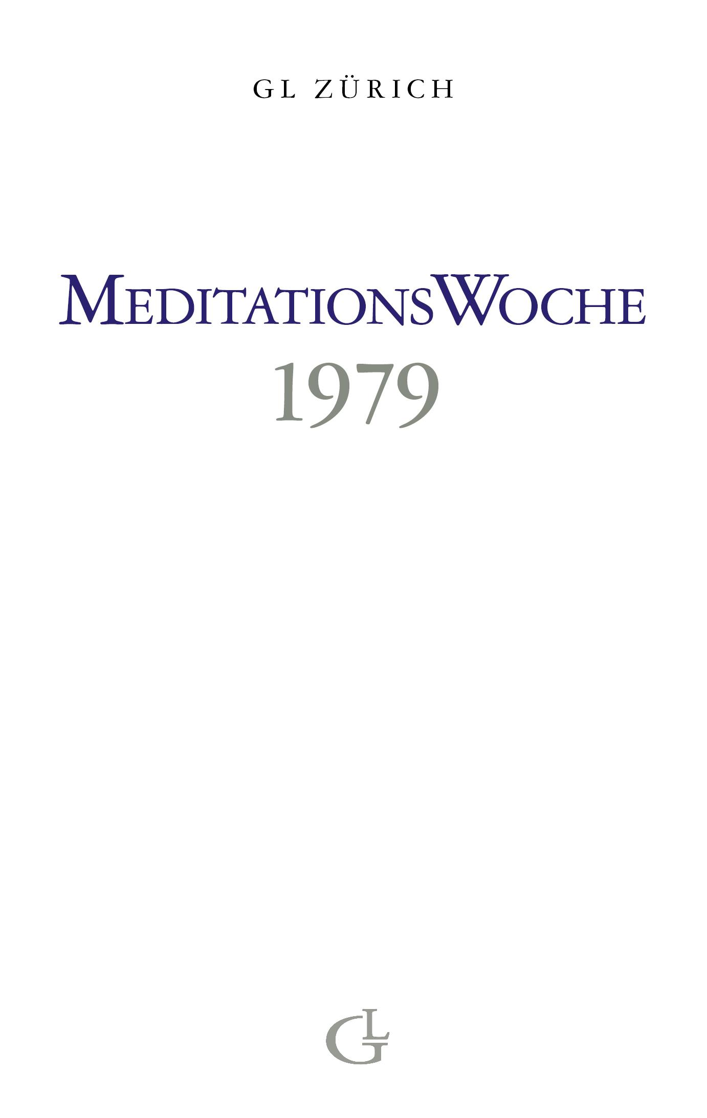 Cover des Buches Meditationswoche 1979 von Medium Beatrice Brunner